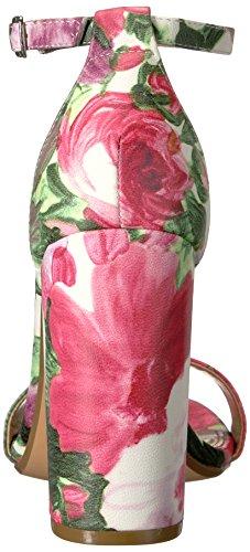Sandalia Steve Madden tacón gamuza negro Floral Multi