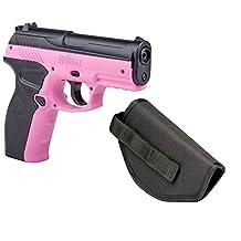 Crosman Wildcat CO2 BB Pistol with Bonus Holster, Pink, .177