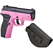 Crosman P10PNKKT Wildcat Kit Co2 Powered Semi-Auto BB Air Pistol with Holster, Pink, 4.5mm