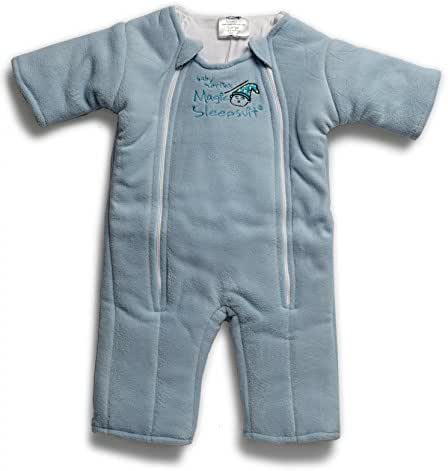 Baby Merlin's Magic Sleepsuit-Swaddle Transition Product - Microfleece-Blue- 6-9 Months
