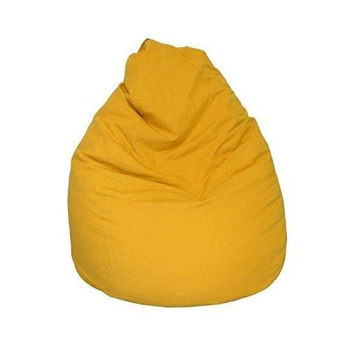 LANA Poire pouf en coton Ø75x110 cm jaune AUCUNE 3700301138873