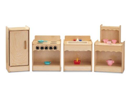 Jonti-Craft 2075JC Toddler Contempo Kitchen 4 Piece - Jonti Kitchen Craft
