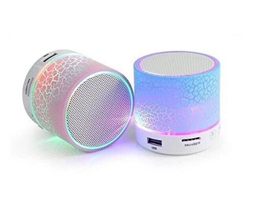 Tm Flash Memory (Drhob 1PCS A9 Smart LED Light Crack Mini Wireless Bluetooth Speaker Portable Bluetooth Stereo Speaker Support TF Card/USB Flash Drive/FM(Multicolor random))