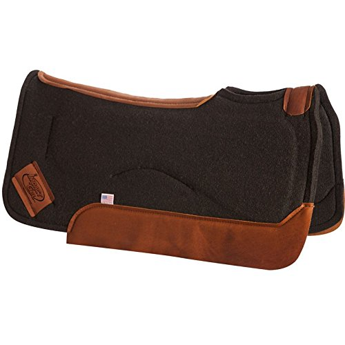 Impact Gel Western Saddle Pad - Impact Gel Felt 1in Contour Pad 32 x 32 Black