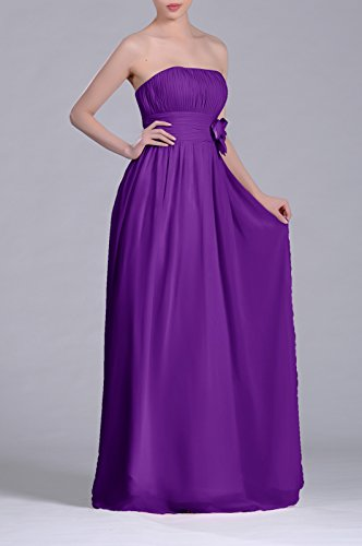 A Dress Strapless Lapis Adorona Line Chiffon Women's Long q4wTgv