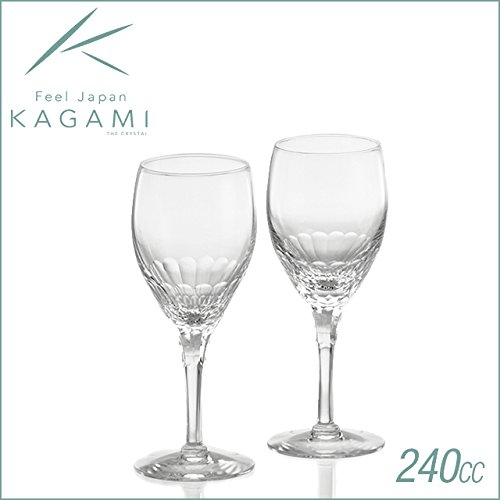 Kagami Crystal Ecrins pair wine glass KWP249-2533 by Kagami Crystal