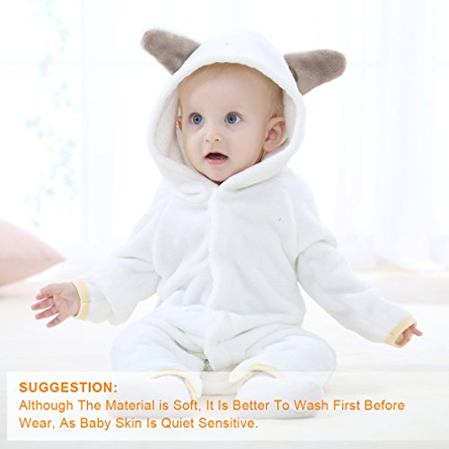 d612985a4 MICHLEY Baby Girls Boys Romper Bear Style Jumpsuit Autumn   Winter ...
