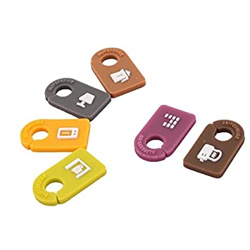 Gestor de alambre eDealMax Home Office cable Identificador clips de cordón etiqueta de la etiqueta 6pcs