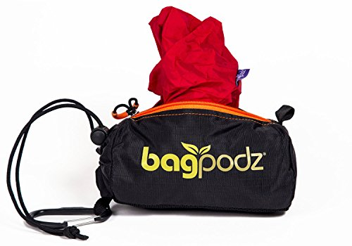 Nylon Ripstop Water (BagPodz Reusable Bag and Storage System - Cayenne Red (Contains 5 Bags))