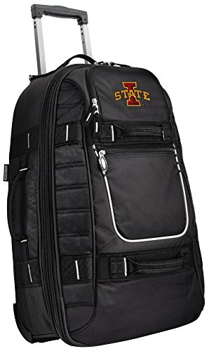 Small Iowa State Carry-On Bag Wheeled Suitcase Luggage Bags by Broad Bay