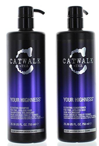 TIGI Catwalk Your Highness Volume Tween, 25.36 Oz Volumizing Shampoo and Conditioner Duo (Wash Volumizing Shampoo)