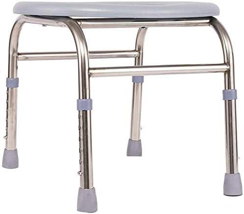 GBX Beweglich Faltbare Durablefolding Potty Wc Stuhl, Medical Höhenverstellbarer Duschtoilettenstuhl, Kopfendecommode Stuhl, Für Nacht Badezimmeruse, Mobil Kopfendecommode, Sit Bathe