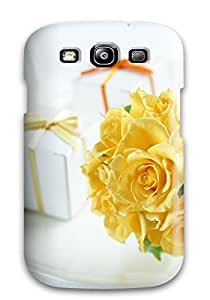 Fashion Tpu Case For Galaxy S3- Yellow Roses Defender Case Cover