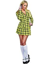 Women's Fancy Girl Yellow Plaid Clueless Iggy Schoolgirl Costume