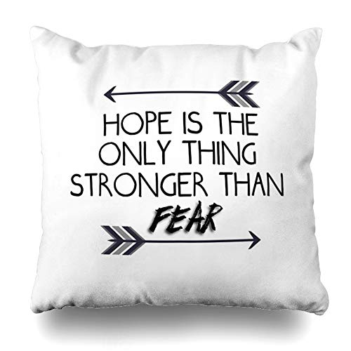 Ahawoso Throw Pillow Cover Square 18x18 Inches The Hunger Games Quote Design Decorative Pillow Case Home Decor -
