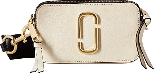 Marc Jacobs Women's Snapshot Camera Bag, Cloud White Multi, One Size - Marc Jacobs White Bag