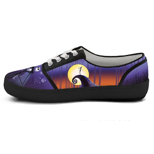 Tim Burtons The Nightmare Before Christmas Canvas Womens Shoes by The Bradford Exchange Multicoloured RonQVw