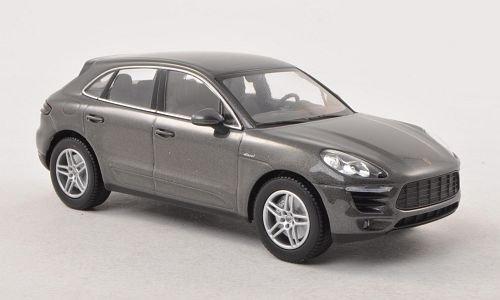 Porsche Macan S Diesel, metallic-dunkelgrau, 0, Modellauto, Fertigmodell, Minichamps 1:43