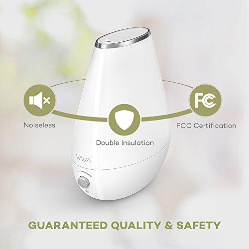 VAVA Cool Mist Humidifier Space-Saving Ultrasonic Bedroom Babies Nursery, Whisper-Quiet, Filter Free, 360° Nozzle, Automatic Shut-Off (Certified refurbished) by VAVA (Image #5)