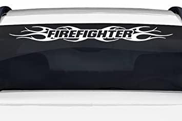 Amazoncom Sticky Creations Design  Firefighter Tribal - Truck windshield decals