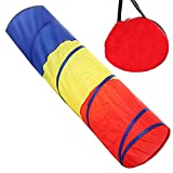 WER Kids Toy Play Tunnel Tent 6ft Rainbow Pop Up Play Tunnel Tube for Children Indoor and Outdoor Games