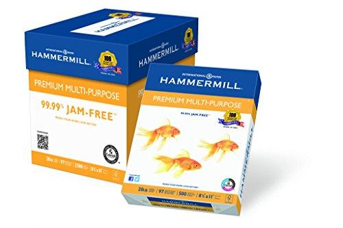 Hammermill Paper, Premium Multipurpose Paper, 8.5 x 11 Paper, Letter Size, 20lb Paper, 97 Bright, 5 Reams / 2,500...