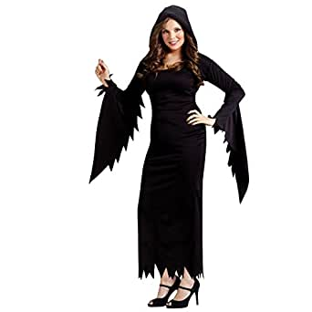 Fun World Women's Hooded Gown, Black, Plus Size