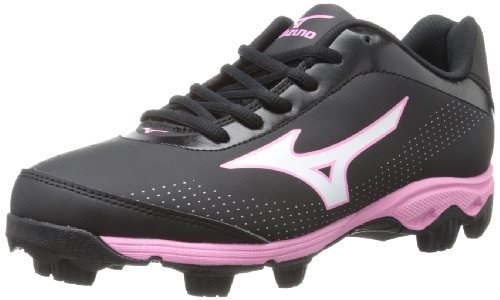 Mizuno Women's Finch Franchise 5 Softball Cleat,Black/Pink,8 M US