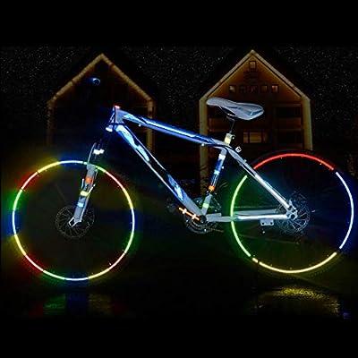 ARSUTE Accesorios para Bicicletas Pegatinas Reflectantes para Bicicleta Cinta Adhesiva para Seguridad de Bicicleta Pegatinas Reflectantes para Bicicleta-Amarillo: Amazon.es: Deportes y aire libre