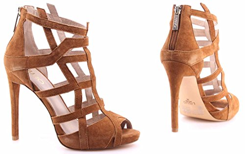 Mujeres Suede Beige Zapatos Minerve Croissant New Sandals Tacones Liu Jo Miner 500xwT8q
