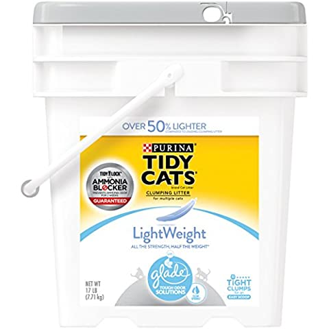 Purina Tidy Cats LightWeight With Glade Tough Odor Solutions Clear Springs Clumping Litter - (1) 17 lb. - Flush Litter Box