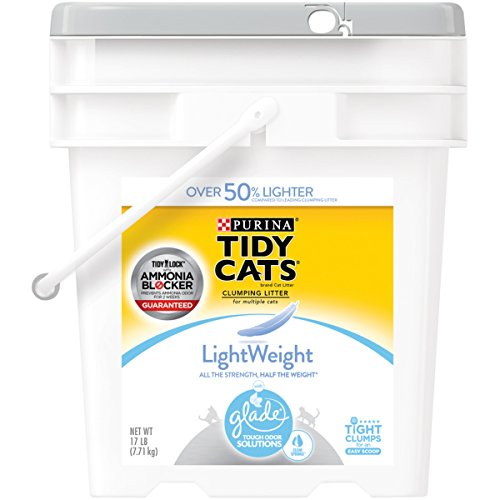 Purina Tidy Cats LightWeight With Glade Tough Odor Solutions Clear Springs Clumping Litter - (1) 17 lb. Pail