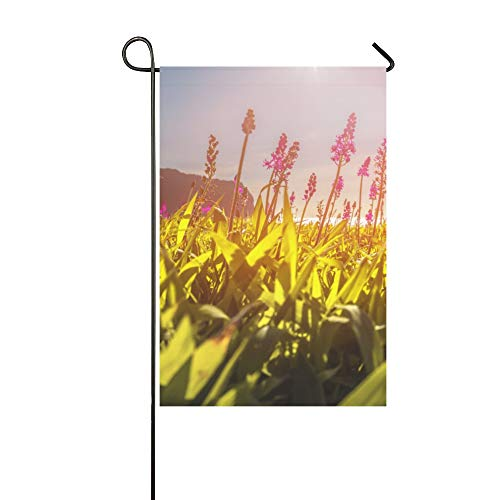 Home Decorative Outdoor Double Sided Korea Jeju Island City Free Travel Romantic Garden Flag,house Yard Flag,garden Yard Decorations,seasonal Welcome Outdoor Flag 12 X 18 Inch Spring Summer Gift