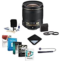 Nikon 28mm f/1.8G AF-S NIKKOR Lens, USA Warranty - Bundle w/67mm Filters & Pro Software