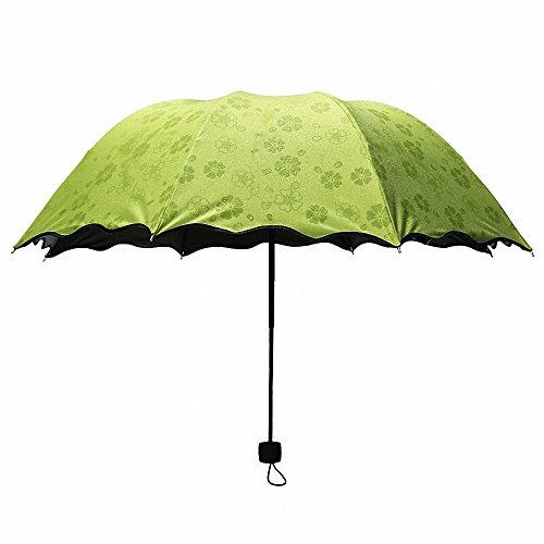Cheap  SUOWO Compact Folding Windproof Travel Umbrella Bloom When Wet Rain Parasol for..