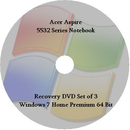 Acer Aspire 5532 Series Recovery Disks 7HP64 Set of -