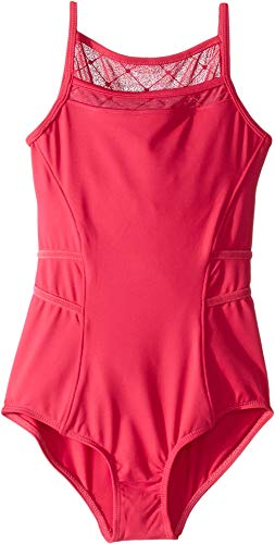 Bloch Kids Girl's Diamond Heart Camisole Leotard (Little Kids/Big Kids) Berry 12 by Bloch Kids