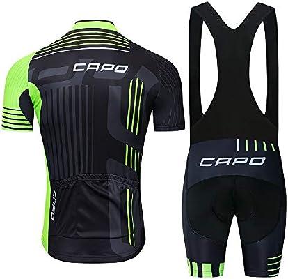STEPANZU Maillot Ciclismo Hombre Corta Ropa Ciclismo + Culote con ...