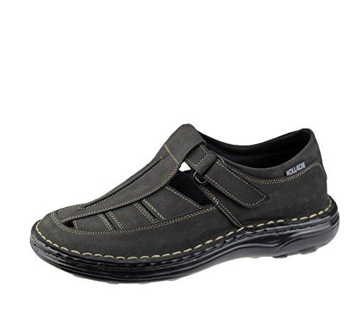 Herren Sandalen Casual Beach Fashion Casual Walking Flip Flop Slipper Leder Schuhe Schwarz