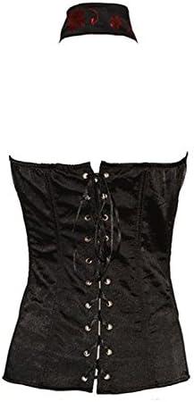 ZAMME Womens Body Beauty Corset Black And Flower Print