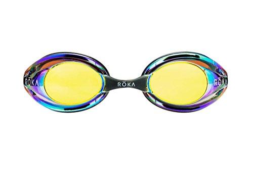 ROKA F1 Mirrored Swim Goggle Low Profile with Anti-Fog Coating - - Swim Roka