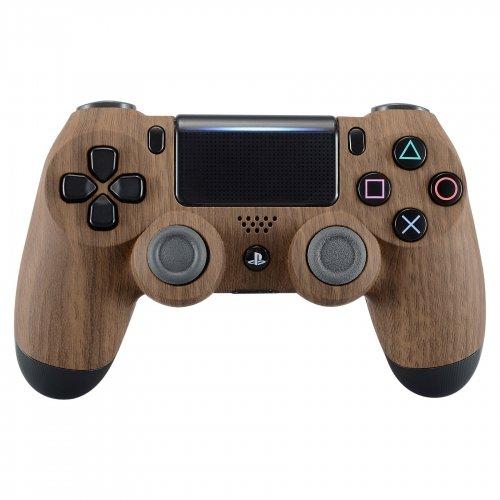 Wood Grain Playstation 4 PS4 Dual Shock 4 Wireless Custom Controller (Ps4 Wood Grain Skins)