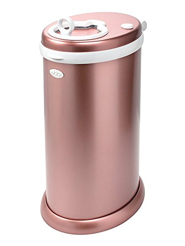 Ubbi Limited Edition, Money Saving, No Special Bag Required, Steel Odor Locking Diaper Pail, Rose Gold from Ubbi