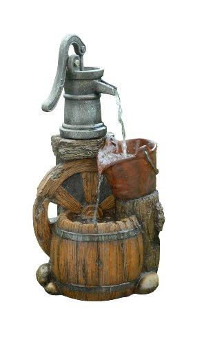 Benzara Old Fashion Pump Barrel Fountain