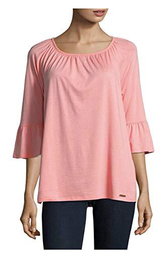 MICHAEL Michael Kors Women's Gathered Bell Sleeve Top Blouse Shirt (Small, Bright Blush) ()