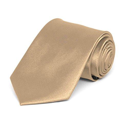 TieMart Bronze Solid Color Necktie product image