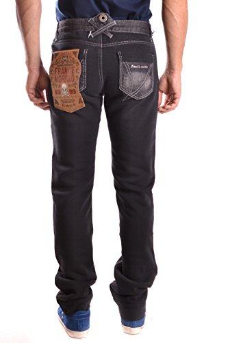 Frankie Morello Herren MCBI125082O Schwarz Baumwolle Jeans
