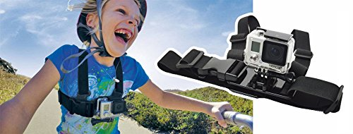 ProGear Adjustable Kids Chest Mount For GoPro Hero 4/3+/3/2/1 Junior Chesty Ages 3-14 (Kids For Gopro Harness Chest)
