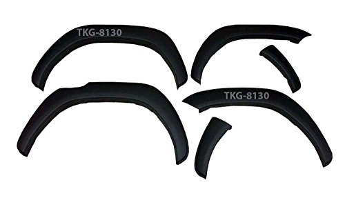 Matt Black Fender Flares Over Wide Body Wheel Arches OEM Style For ( 4x2 WD) Toyota Hilux Revo Pickup M70 M80 2015 2016 2017