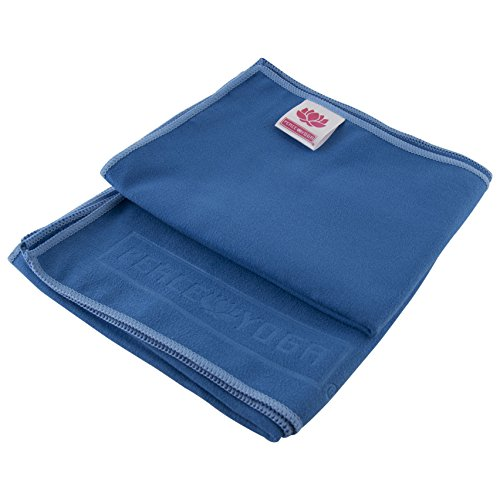 Peace Yoga Non Slip Suede Exercise Towels Blue [15